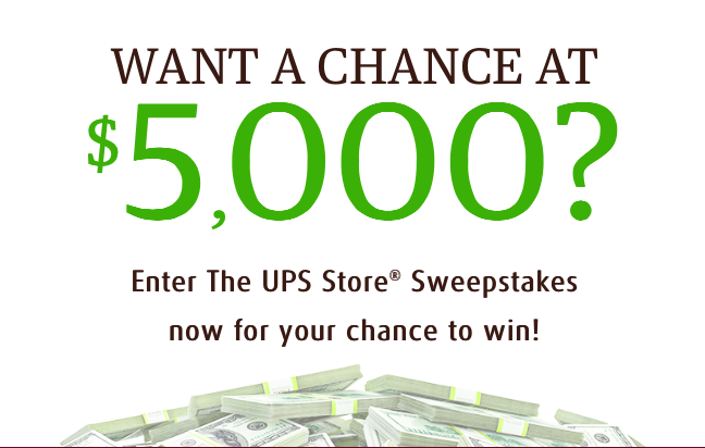 The UPS Store 2017 Sweepstakes