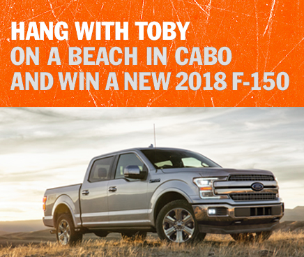 Toby Keith Win a Trip to Cabo San Lucas Sweepstakes