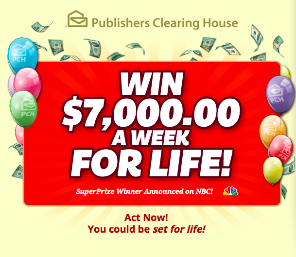 10 000 a week for life sweepstakes