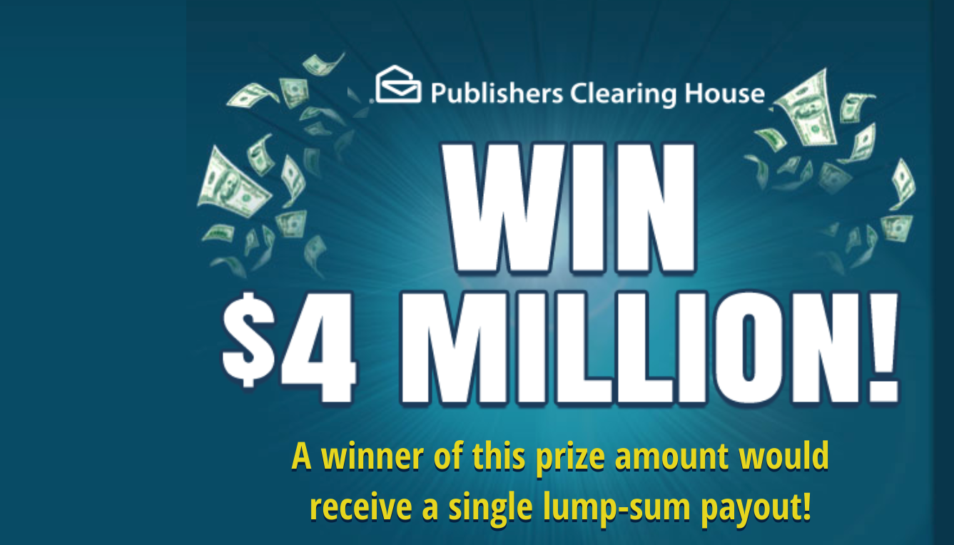 pch 4 million dollar sweepstakes
