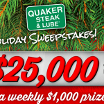 How to Enter the $25k Quaker Steak & Lube Holiday Sweepstakes Without Purchase