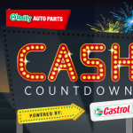 Win $500 Visa Gift Card O'Reilly Auto Parts Cash Countdown Sweepstakes 2017