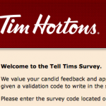 www.telltims.com Survey Validation Code
