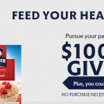 "Enter Code www.QuakerHeartHealth.com ""Feed Your Heart"" Sweepstakes"