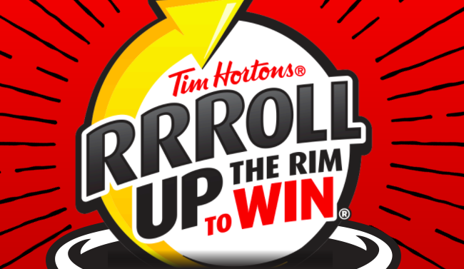 Tim Horton's Roll Up the Rim 2018 Sweepstakes
