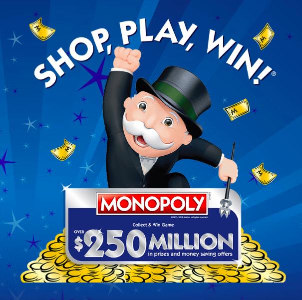 Enter Shop Play Win 2018 Monopoly Albertson's Sweepstakes
