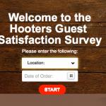 Enter Hooters Feedback Customer Survey Sweepstakes