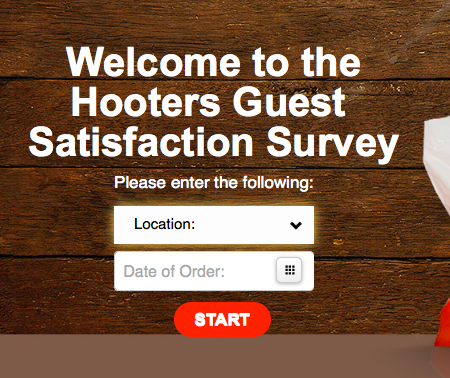 Enter Hooters Feedback Customer Survey Sweepstakes
