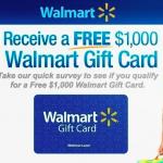 Enter to Win a $1,000 Walmart Gift Card in Walmart Survey Sweepstakes