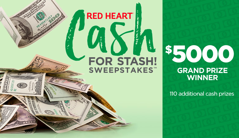 Enter to Win $5,000 in Red Heart Cash for Stash Sweepstakes