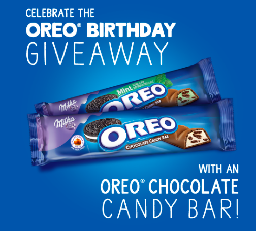 Get a Free OREO Chocolate Candy Bar in Oreo Birthday Giveaway