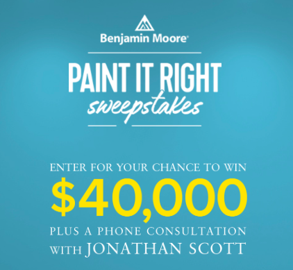 Enter HGTV Paint It Right Sweepstakes to Win $40,000