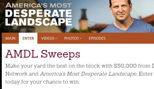Enter DIY Desperate Landscape Giveaway (diynetwork.com/yardsweeps)