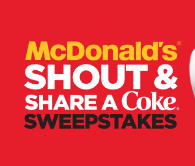 Enter Sip & Scan Icon Coke.com/ShoutShare Sweepstakes