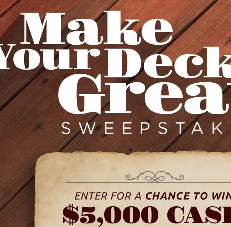 Win $5000 in HGTV Make Your Deck Great Sweepstakes