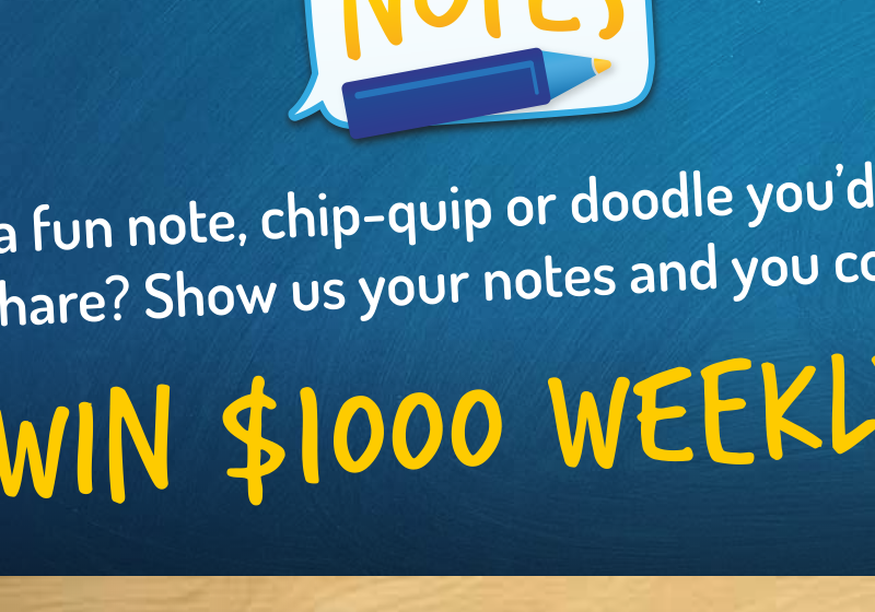 Enter to Win $1,000 in Snackable Notes Sweepstakes (Frito Lay)