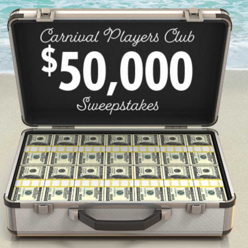 Carnival Players Club Sweepstakes $50,000 (Recommended)