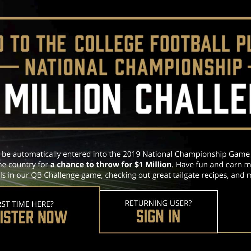 Eckrich 2018 College Football $1M Challenge